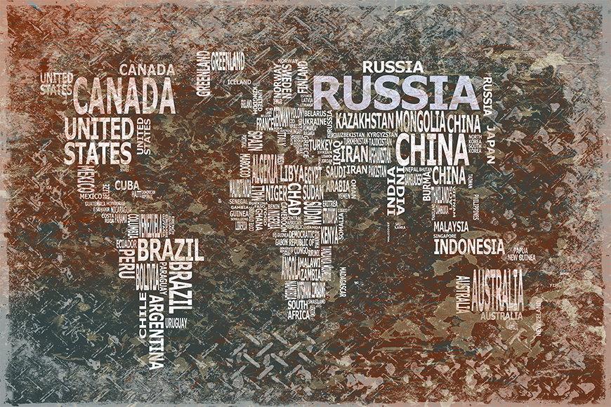 Papier peint Le Carte du Monde 8 120x80cm et plus