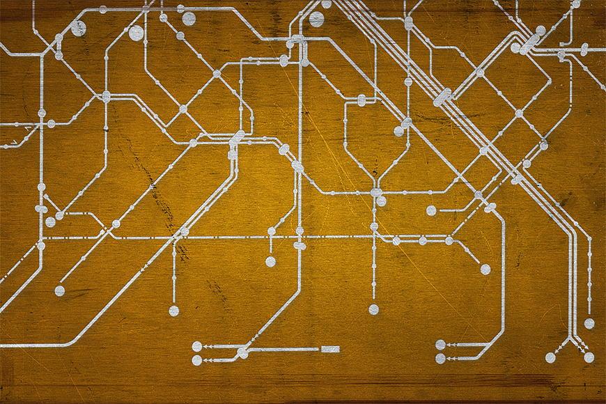 Papier peint Métro Paris 120x80cm et plus