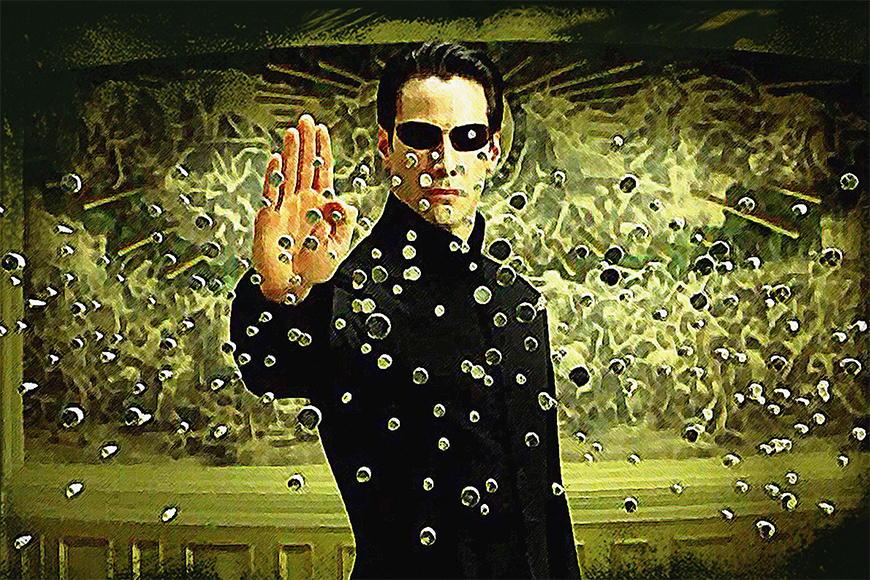 Papier peint Matrix 120x80cm et plus