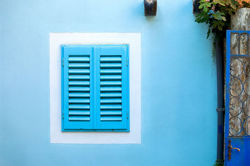 Papier peint Old Blue Window 120x80cm et plus