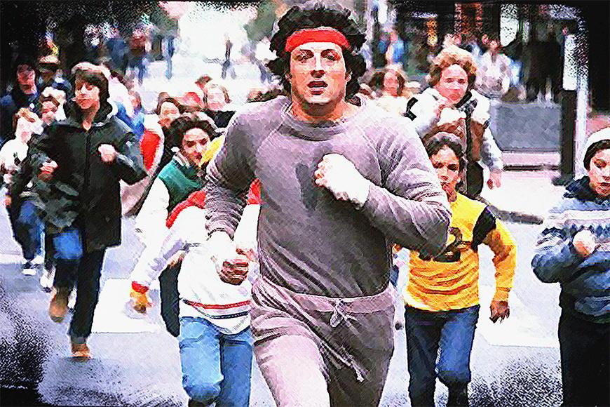 Papier peint Run Rocky Run 120x80cm et plus