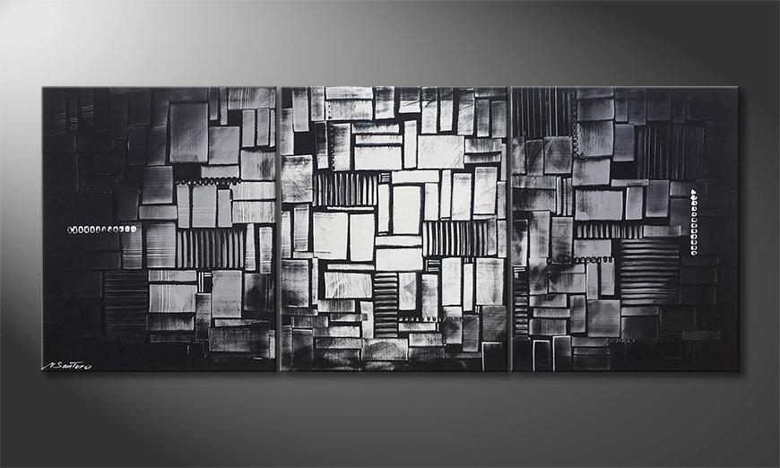 Le tableau mural Cubic Moonshine 180x70cm