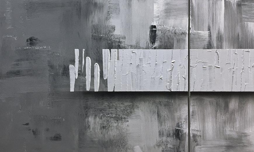 Woonkamer schilderij Clear View 180x50cm - Schilderij XXL